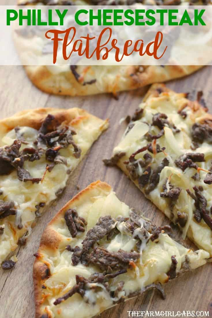 Cheesesteaks rule in my neck of the woods. This Philly Cheesesteak Flatbread is the perfect recipe tocelebrate the sandwich Philadelphia made famous.