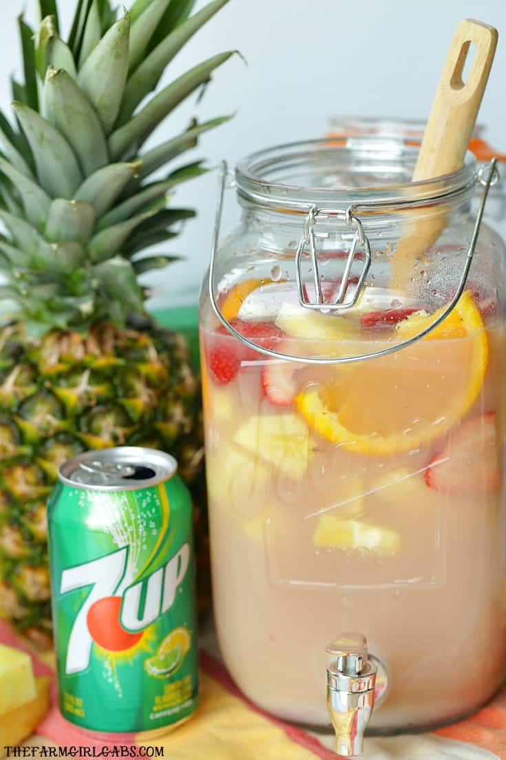 Five ingredients and 10 minutes will get you the perfect tropical party punch recipe great for parties, showers, brunches or virtually any occasion.