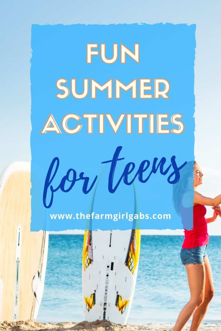 Keep your teenagers busy this summer with some creative activities. The Fun Summer Activities For Teens are great ways to keep them entertained all summer long. #teenagers #summeractivites #parentingteenagers #teenagers
