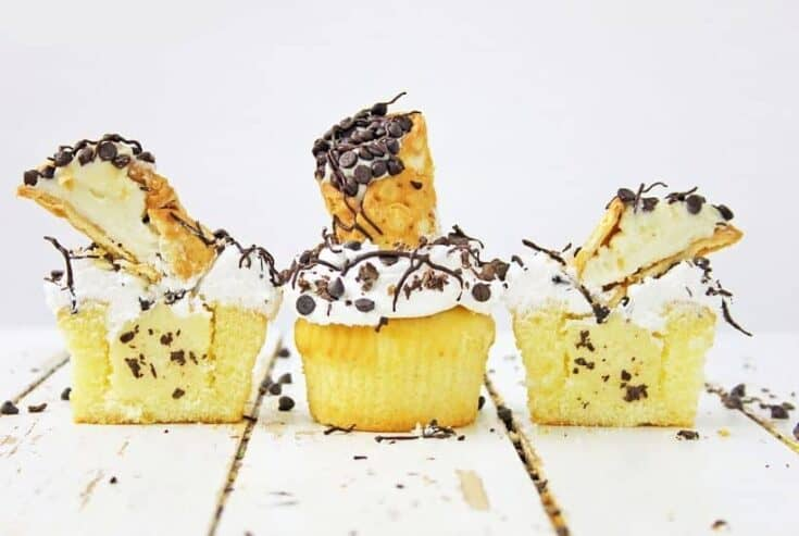 If you are a fan of the classic Italian Cannoli, you are going to love this tasty Cannoli Cupcakes recipe. This easy cupcake recipe is moist and full of flavor.