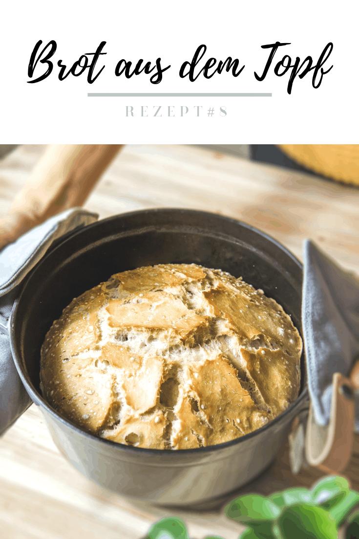 Topfbrot backen - mein Grundrezept für das perfekte Brot aus dem Topf