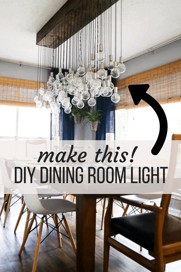 Variety Of Dining Room Table Lighting How to make a gorgeous DIY dining room light