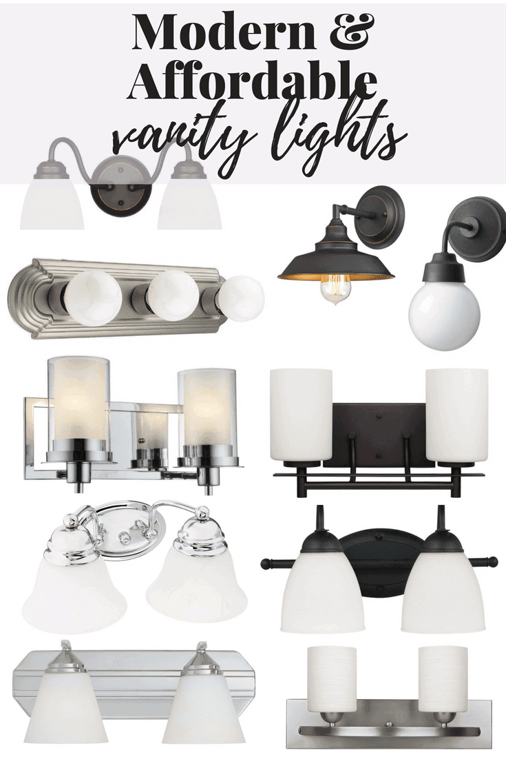 If you're looking for a modern, affordable, and gorgeous option for vanity lighting in your bathroom this post has you covered!