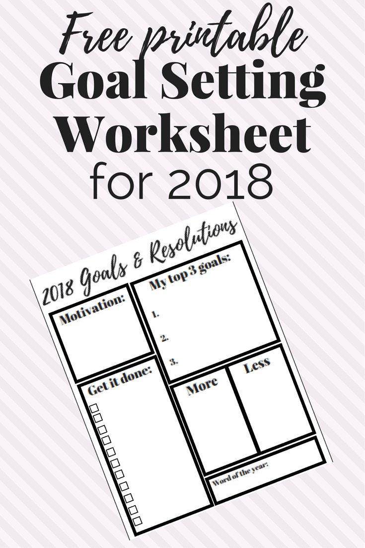 free new year goal setting worksheet