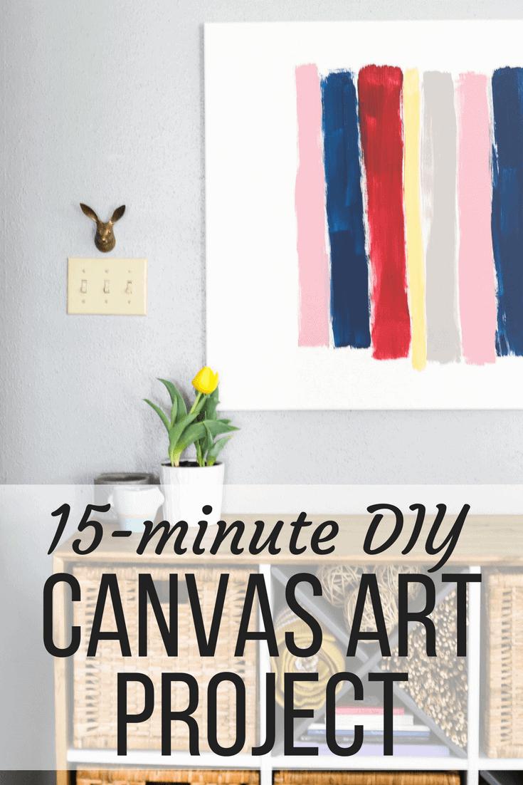 Diy Brush Stroke Art A Quick Easy Canvas Art Project