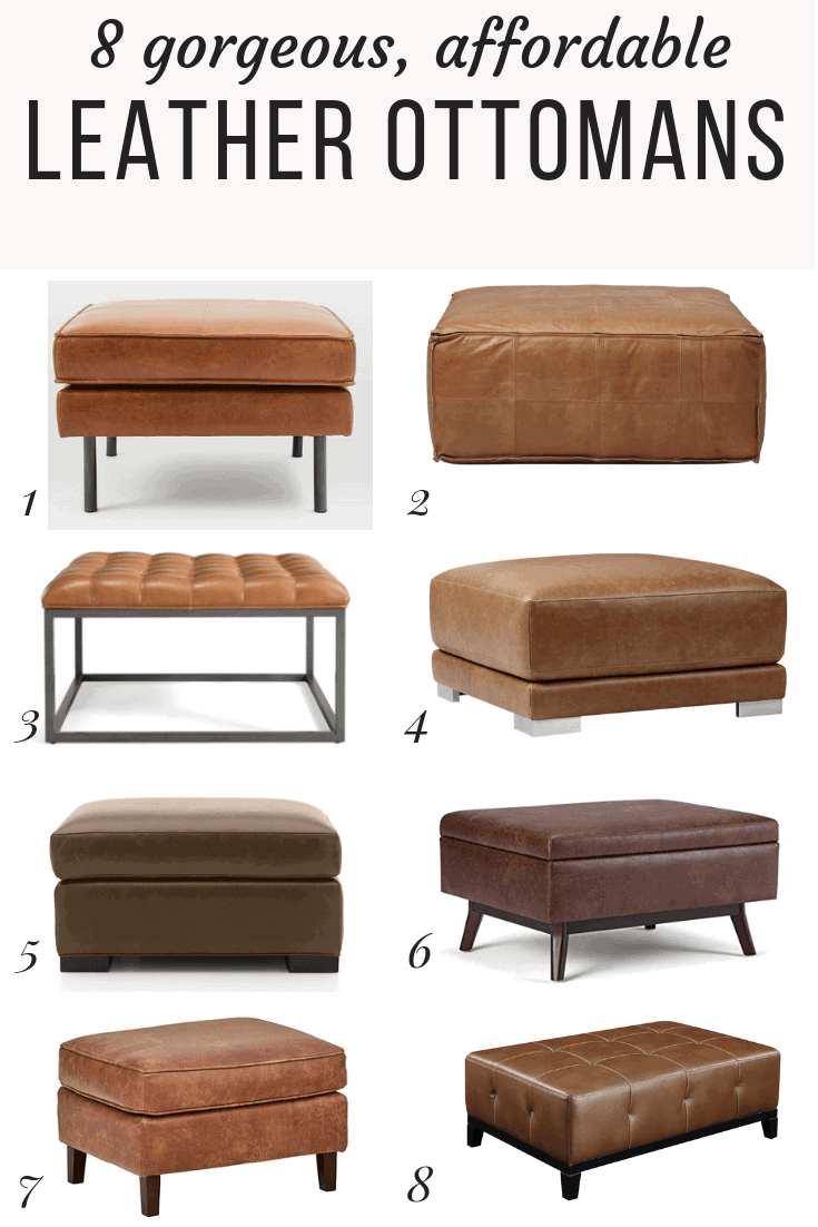 Sensational Affordable Modern Leather Ottomans Love Renovations Dailytribune Chair Design For Home Dailytribuneorg