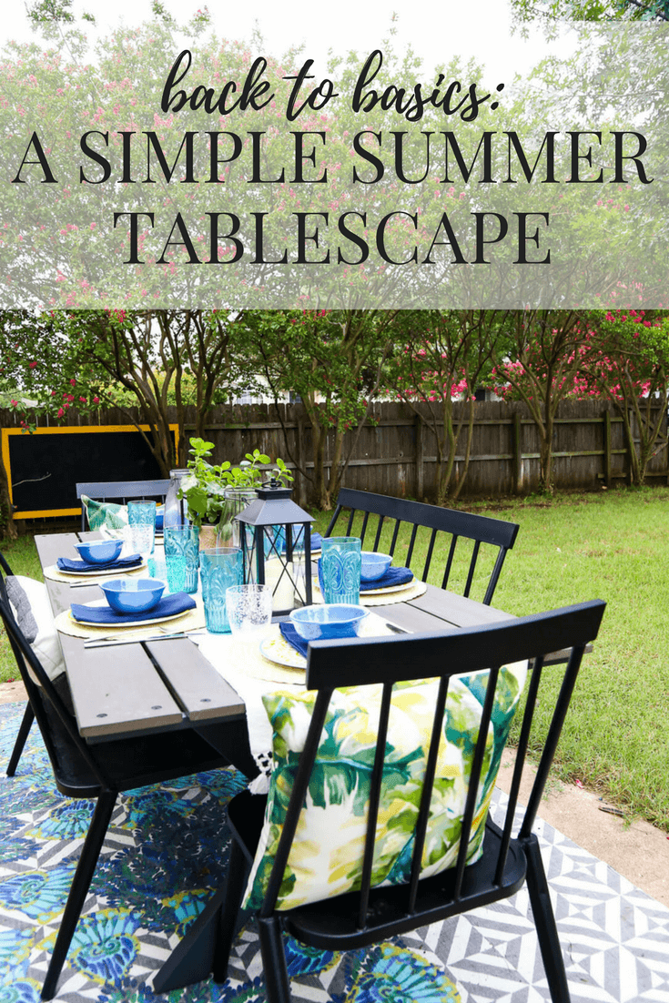 Fabulous Back To Basics Summer Tablescapes Love Renovations Home Interior And Landscaping Palasignezvosmurscom