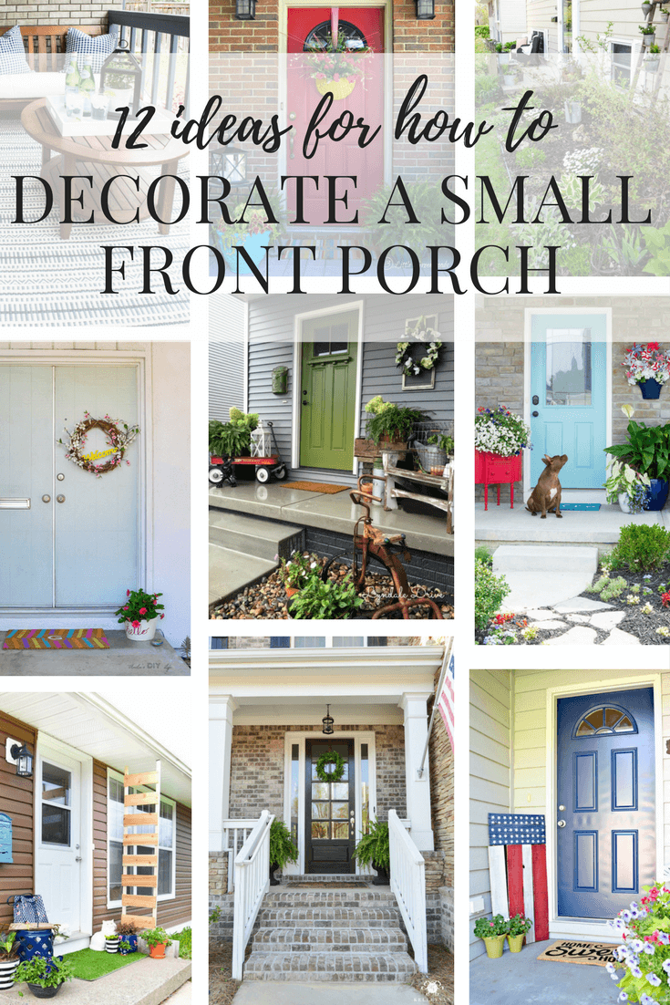 DECORATE A SMALL FRONT PORCH 1 - View Small Home Front Porch Design  Pics