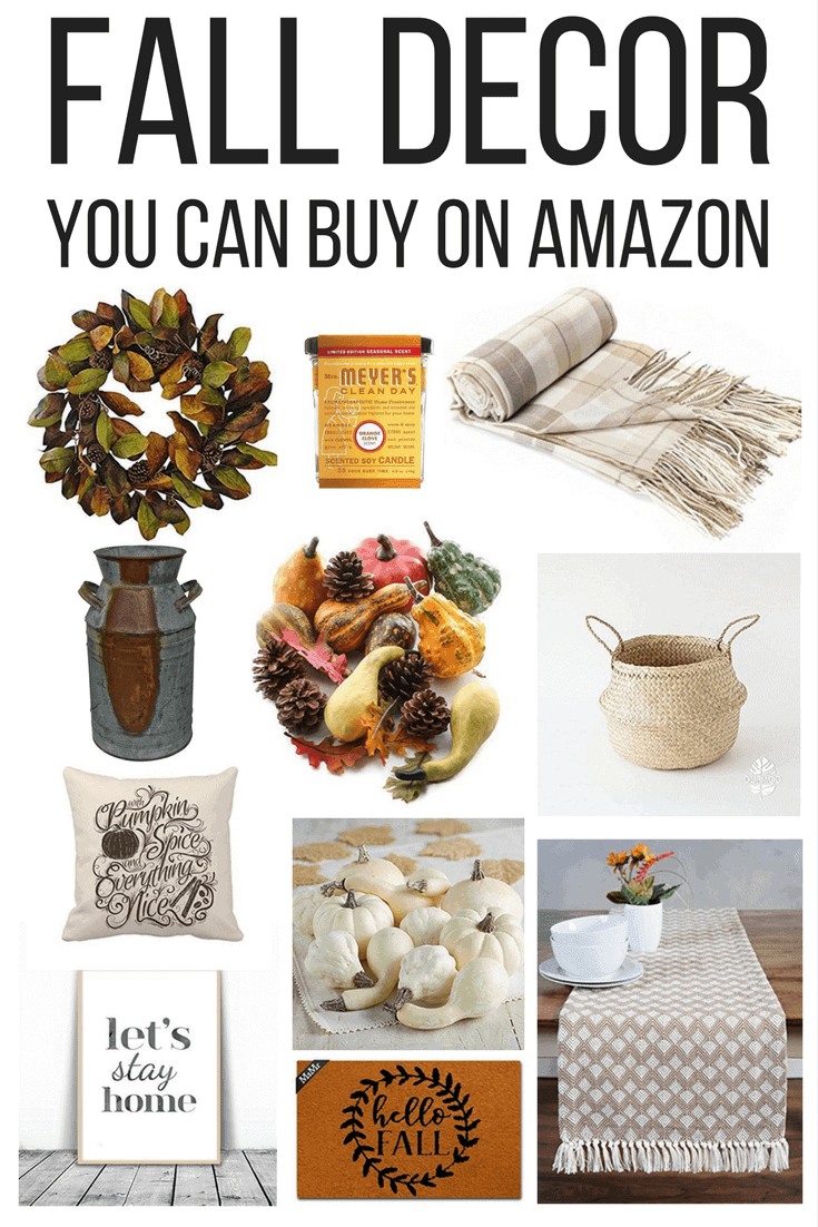 There is a ton of gorgeous, rustic fall decor on Amazon. It's beautiful and affordable, and it can be at your door in just a couple of days!