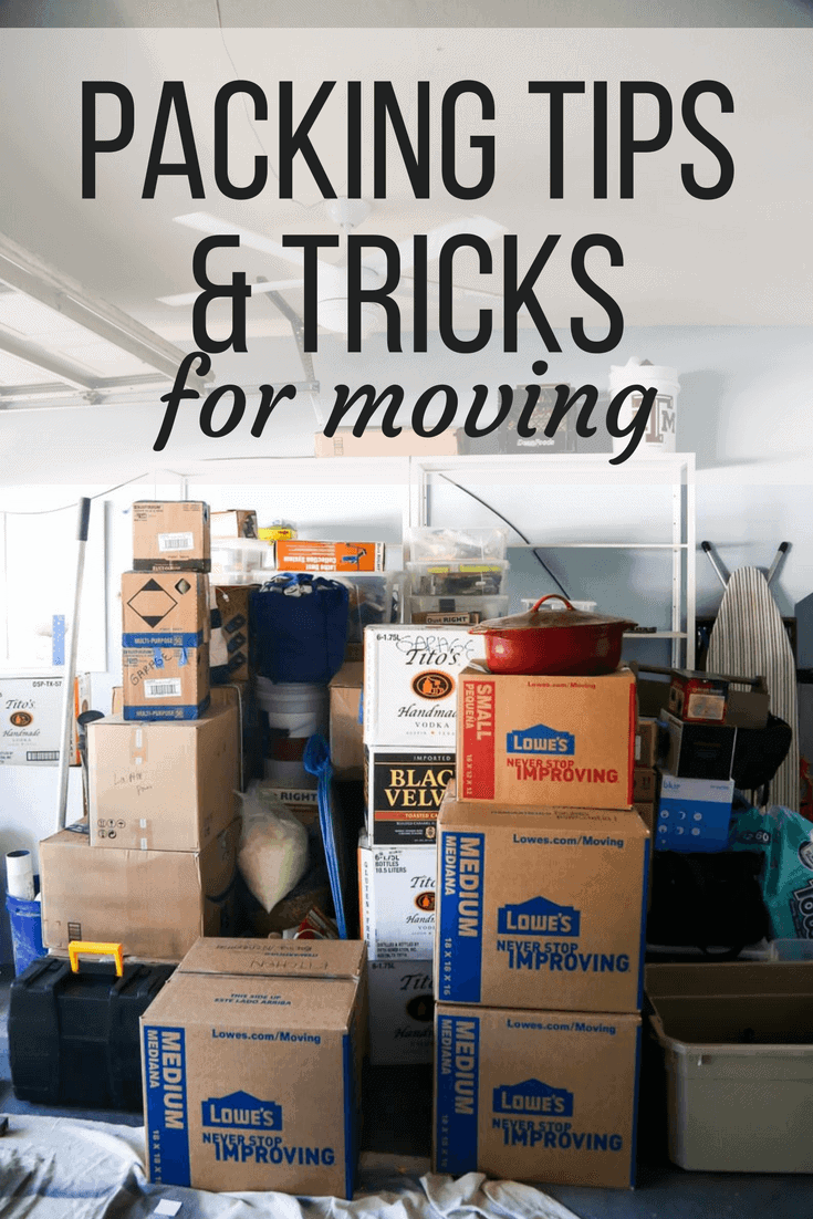 Tips for moving house - packing and organization tips for your next move. Great hacks and ideas for packing every room in your home!