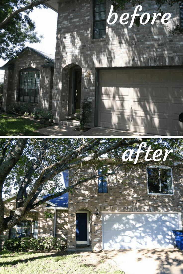 Before and after exterior of house