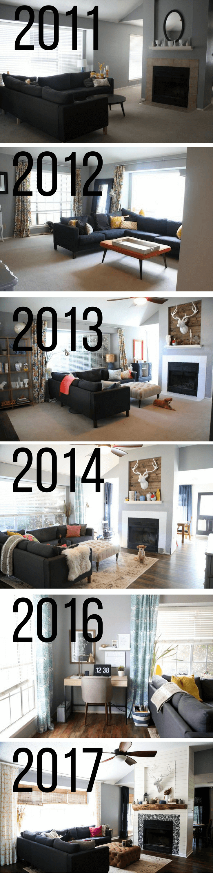 Before and after living room renovation - photos of a living room transformation