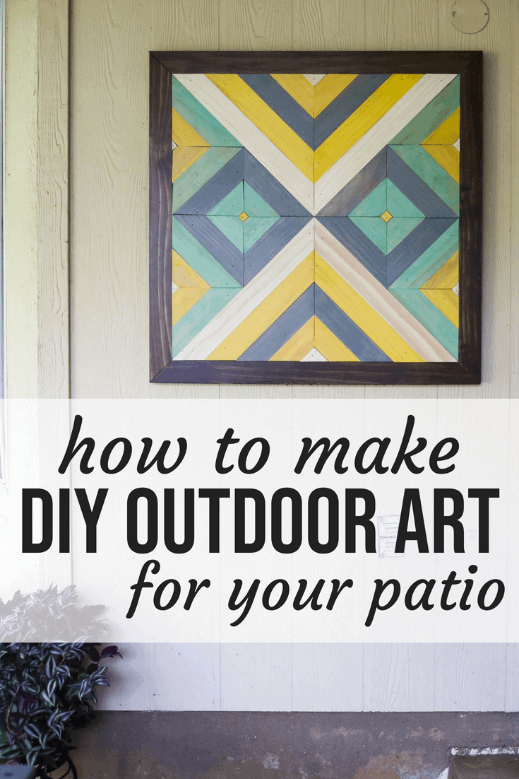 DIY art for patio