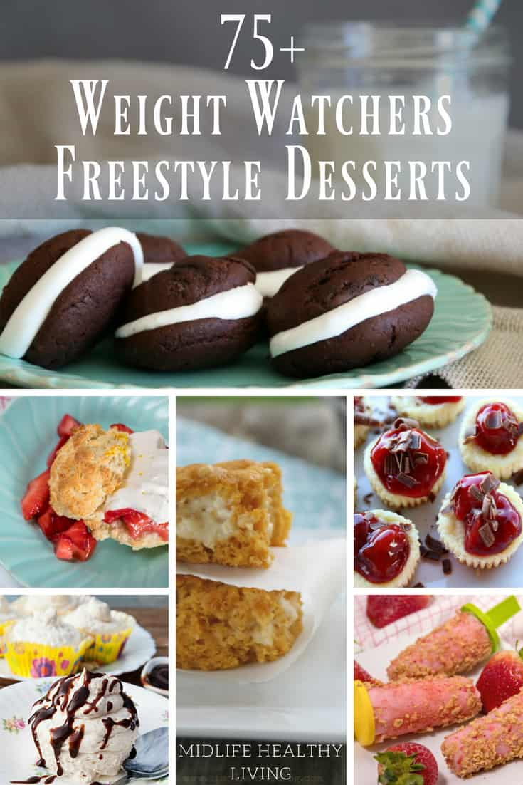 Where are my dessert lovers? Today I'm sharing the ultimate Weight Watchers Freestyle Dessert Recipes roundup...there are more than 75 Freestyle desserts here! That's right, almost 100 recipes for you to make to curb that sweet tooth. #weightwatchers #freestyle #desserts #recipes
