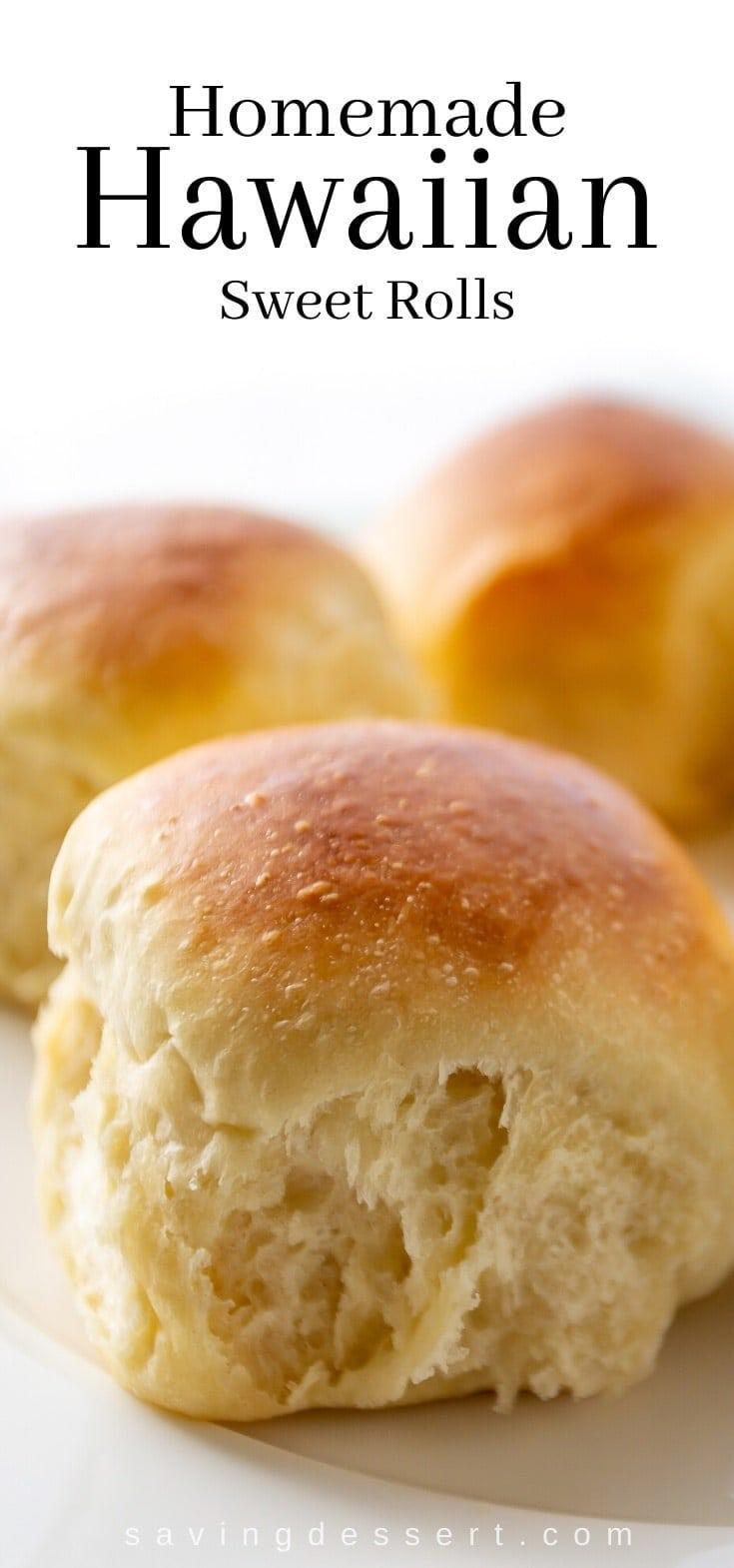 homemade Hawaiian sweet rolls