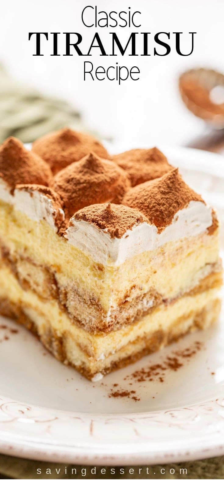 You don't have to be Italian to enjoy this coffee-flavored Tiramisu with a little something extra from the Kahlua liqueur. #tiramisu #makeahead #dessert #Italiandessert #Tiramisurecipe