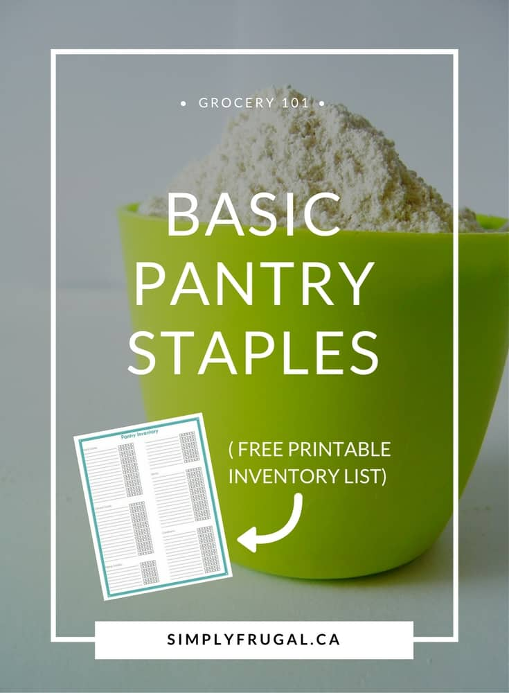 photo regarding Pantry Staples List Printable named Very simple Pantry Staples Record (and a Totally free Printable)