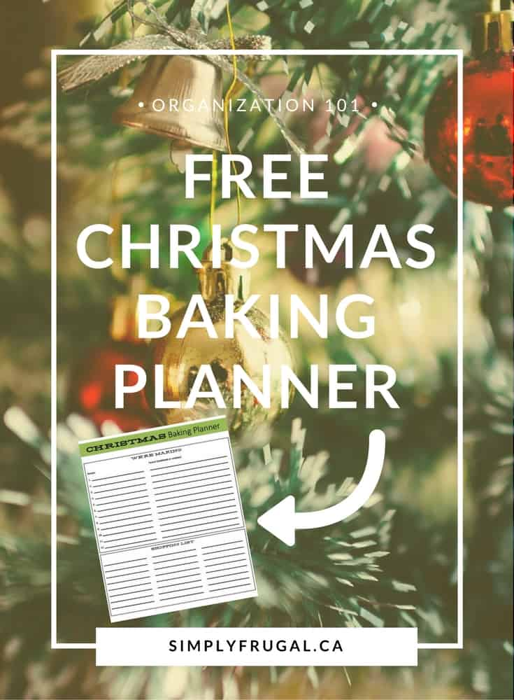 Christmas Baking Planner