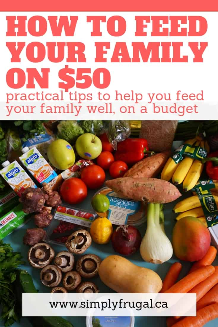 Yes, it can be done, and you don't have to coupon! Check out these practical tips on how to feed your family on $50 a week!