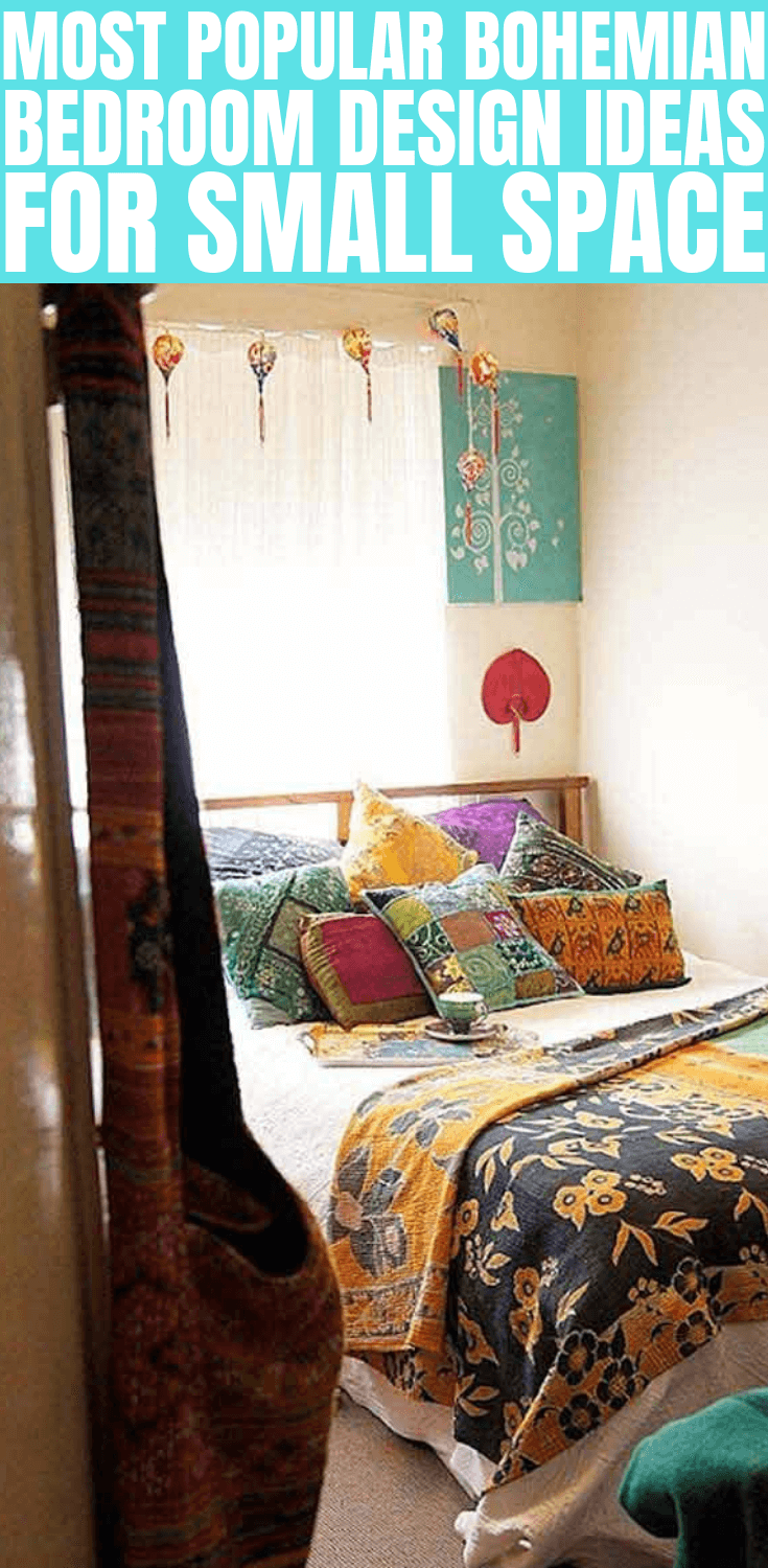 MOST POPULAR BOHEMIAN BEDROOM DESIGN IDEAS FOR SMALL SPACE
