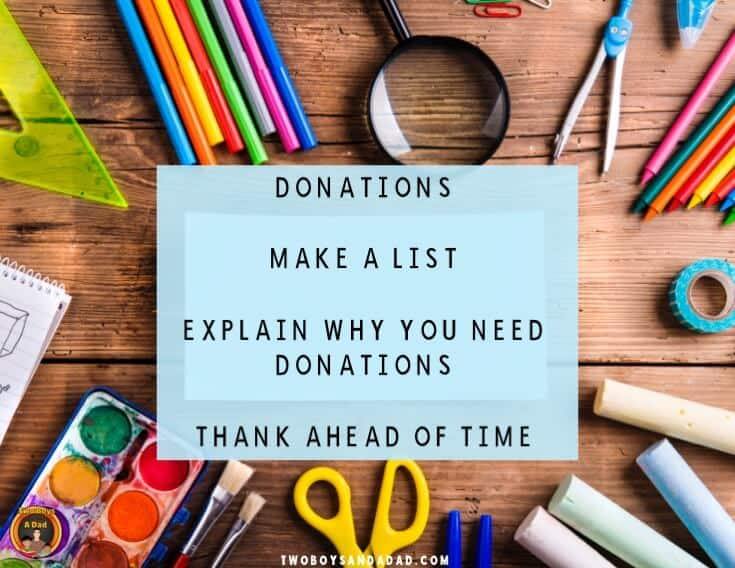 Back to School Night Donations List