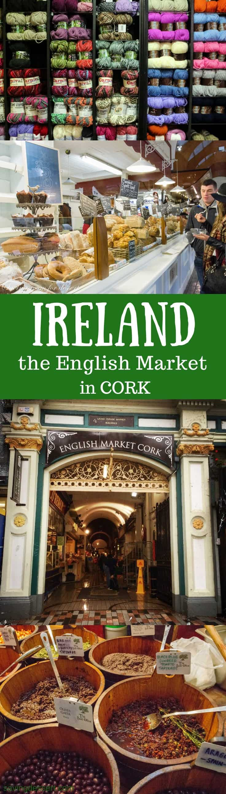 Cork Ireland - The Cork English Market has a fascinating history dating as far back as 1786.  That's before the United States had it's first president!  The market officially opened in August of 1788 and continues to thrive today. #savingroomfordessert #ireland #cork #theenglishmarketcork #market #travel www.savingdessert.com