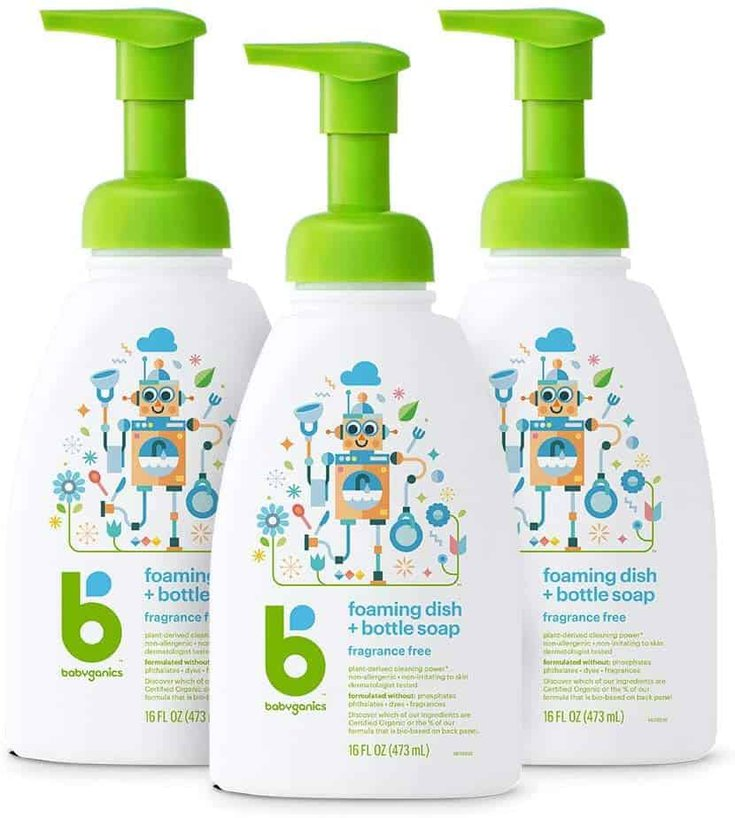 best baby dish soap for baby bottles and pacifiers