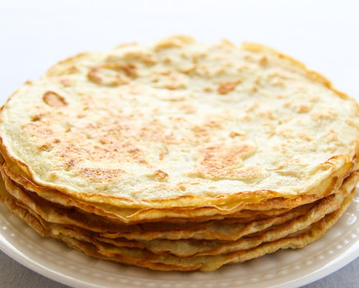 Coconut Flour Crepe Shells Cooked