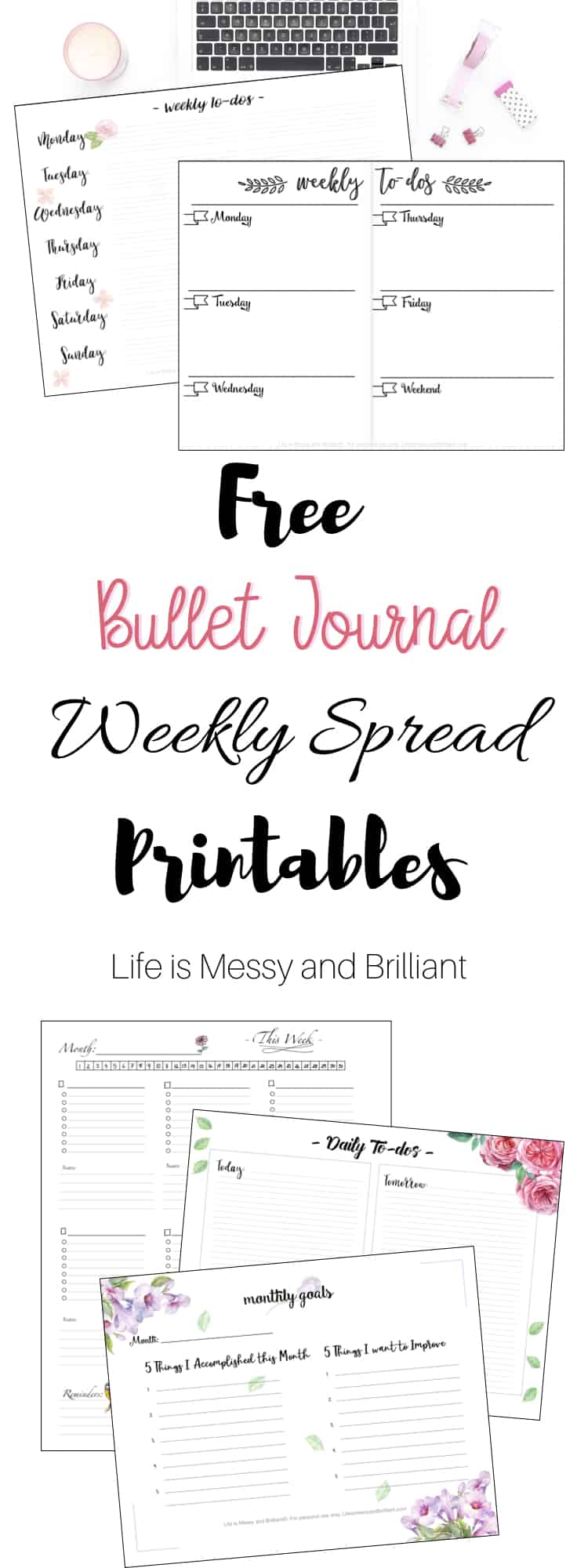 This is an image of Monster Bullet Journal Weekly Spread Printable