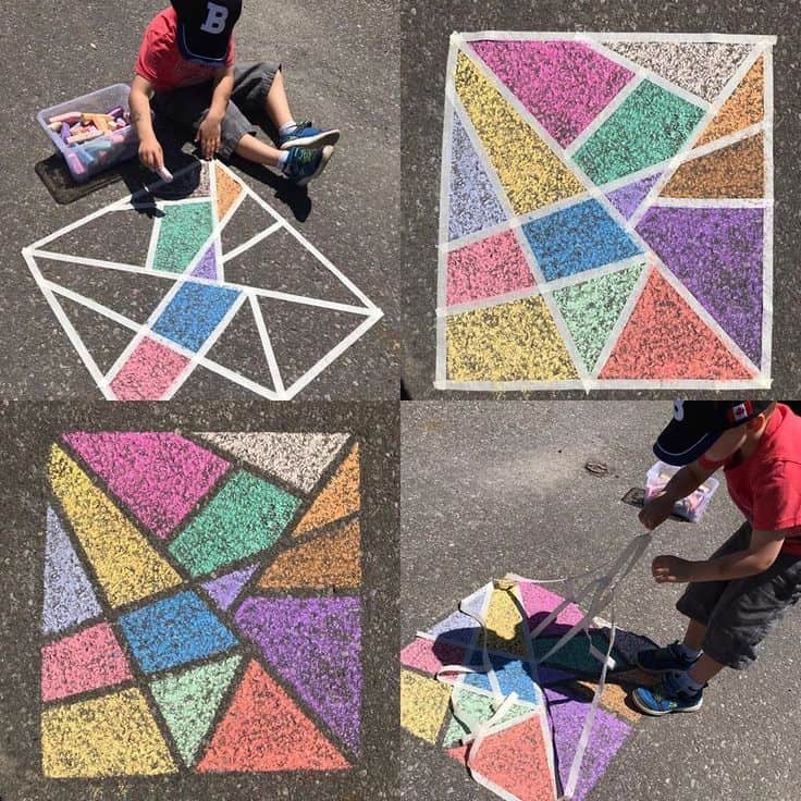 Stained Glass Sidewalk Chalk