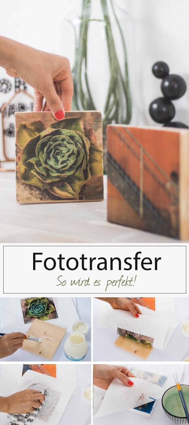 Anleitung Foto Transfer auf Holz. Mit Spezialpapier und Fotopotch das perfekte Ergebnis erhalten.