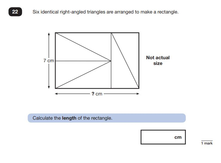 Question 22 in Maths SATs Reasoning Paper 3