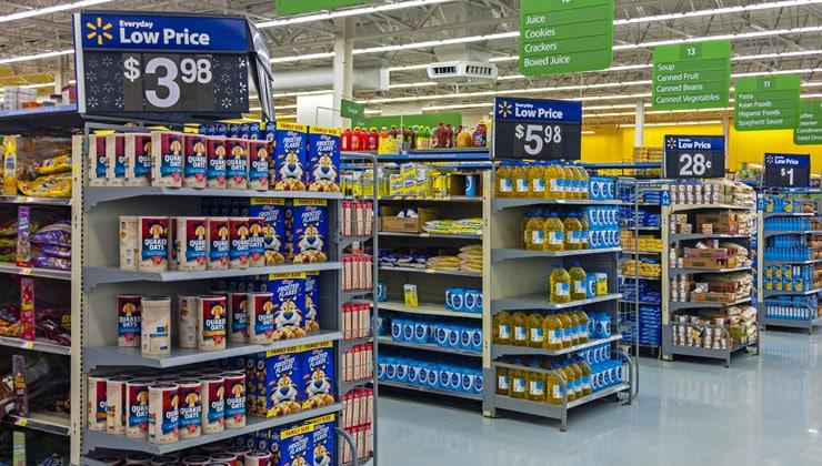 End Cap Displays at Walmart