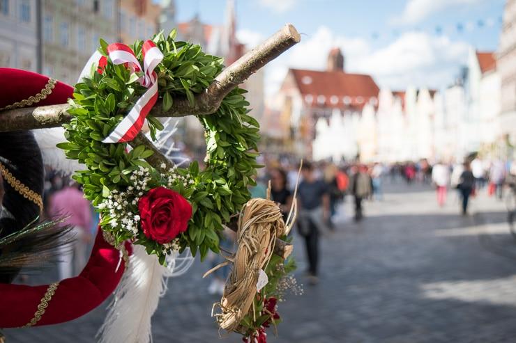 Buchsbaumkranz in Landshut - #WirEntdeckenBayern - ISARBLOG