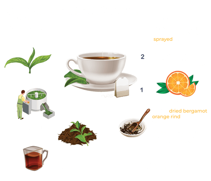 Process of making Earl Grey Tea