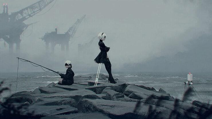 NieR Automata Fishing
