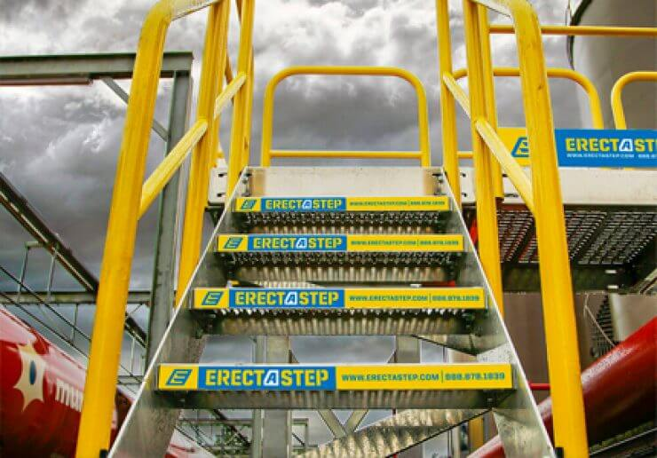 Prefabricated Metal Stairs installation