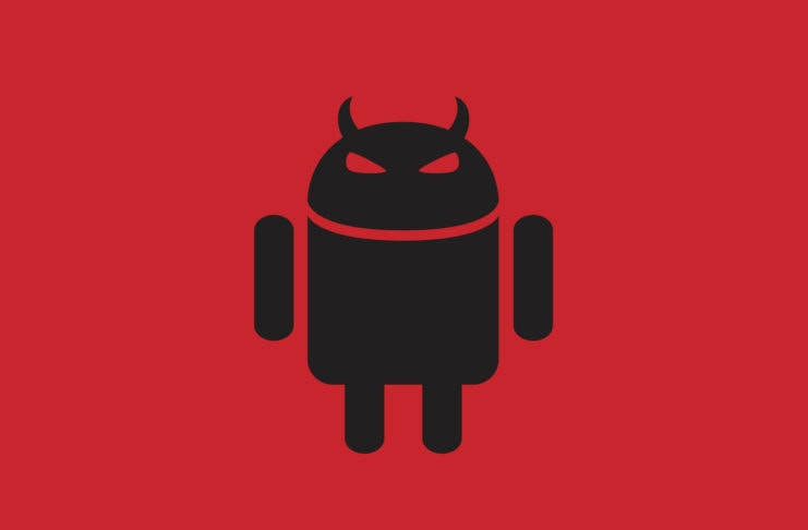 Android robot with horns.