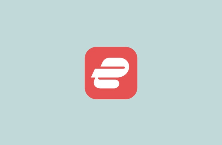 ExpressVPN new logo with red background.