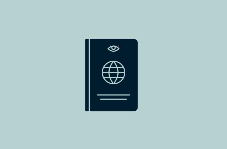 Passport with an eye.