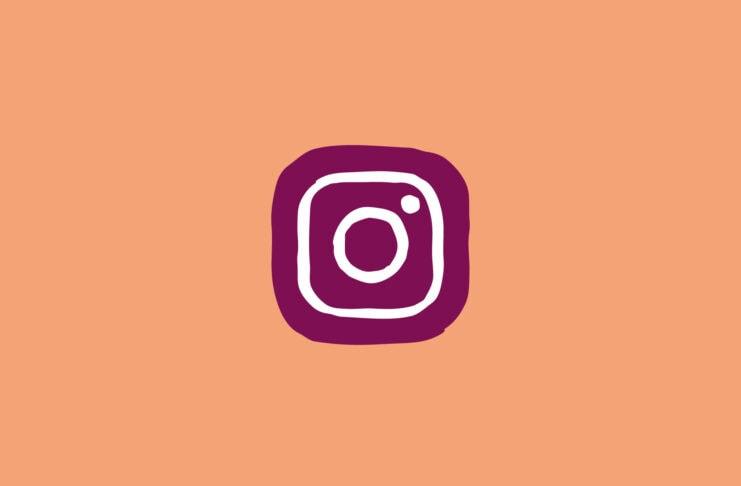 Instagram logo drawn in child-like way.