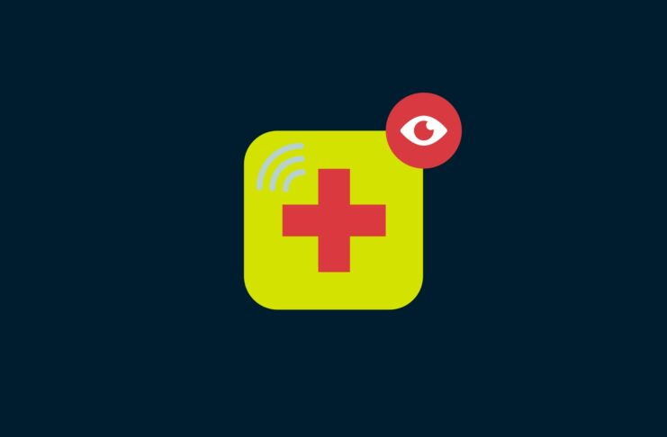 App icon with a cross and and eye.