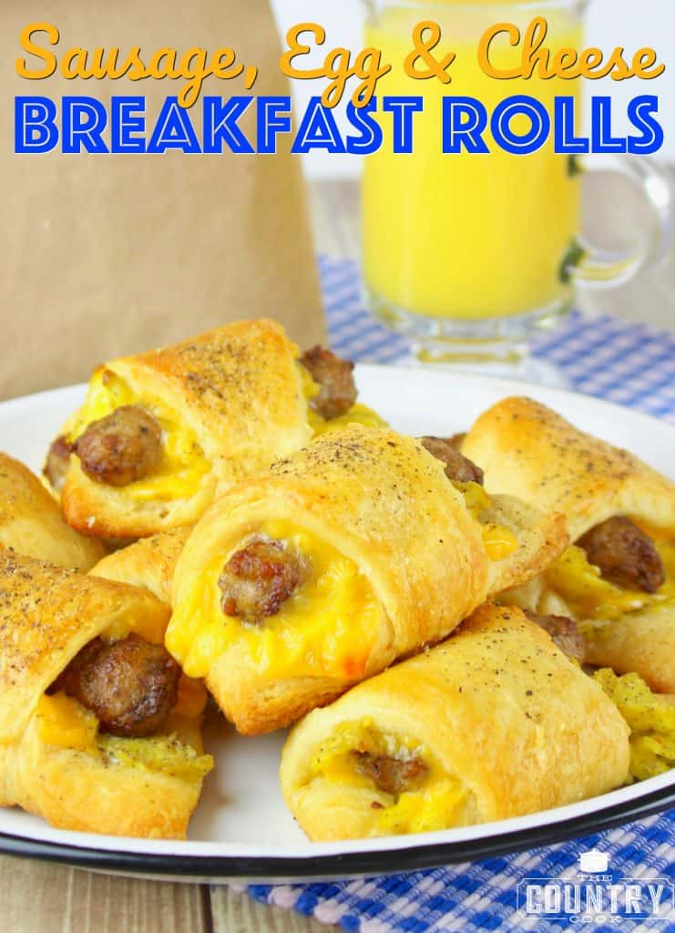 Sausage Egg and Cheese Crescent Breakfast Rolls recipe from The Country Cook