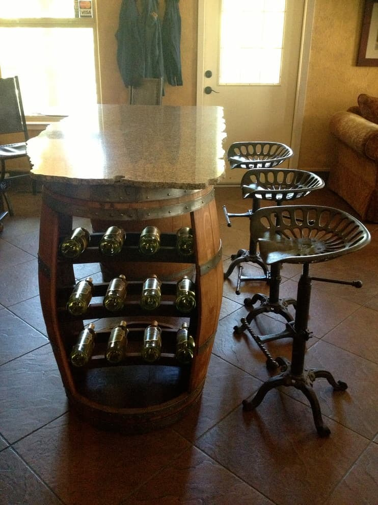 Wine Barrel Bar Side
