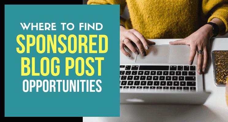 sponsored blog posts