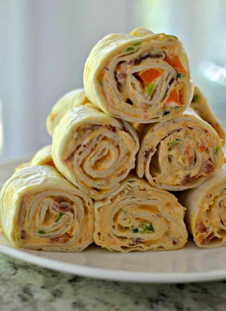 Party Worthy Jalapeno Popper Pinwheels