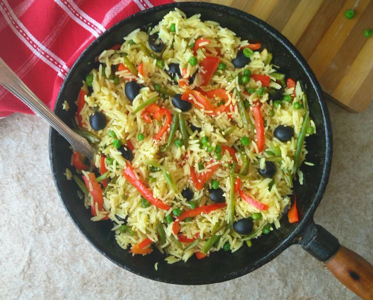 20 Minute Spicy Vegetable Rice