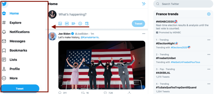 Twitter's New Homepage Layout