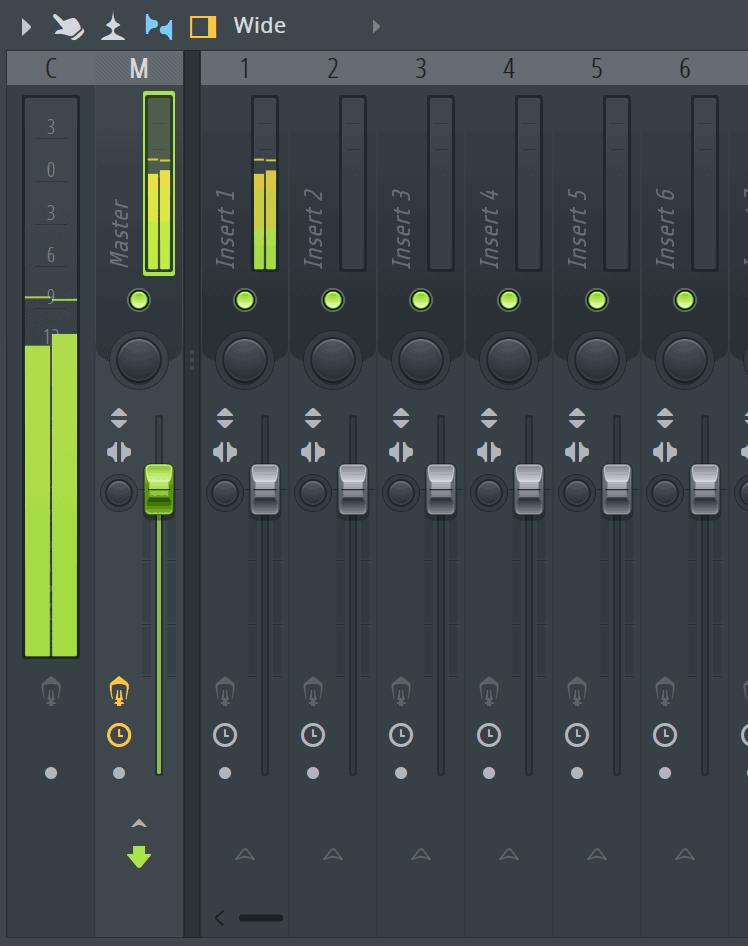 FL Studio Mixer Meter