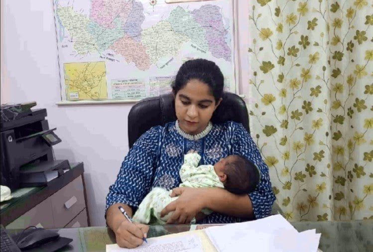 IAS Soumya Pandey reaches office with adoption of 22-day-old girl, is being praised all over the country